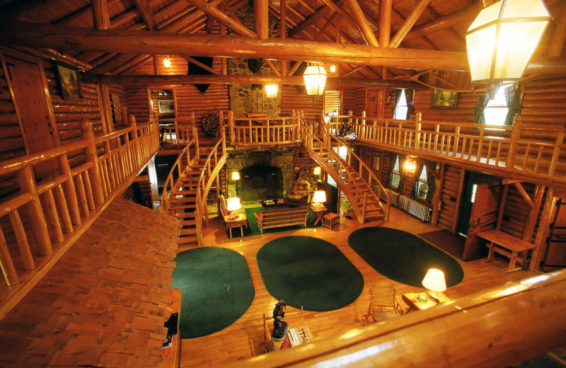 Lodge interior at Unity College Sky Lodge.