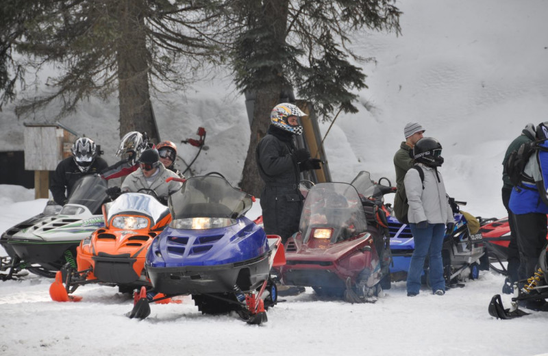 Snowmobiles at Silver Creek Plunge