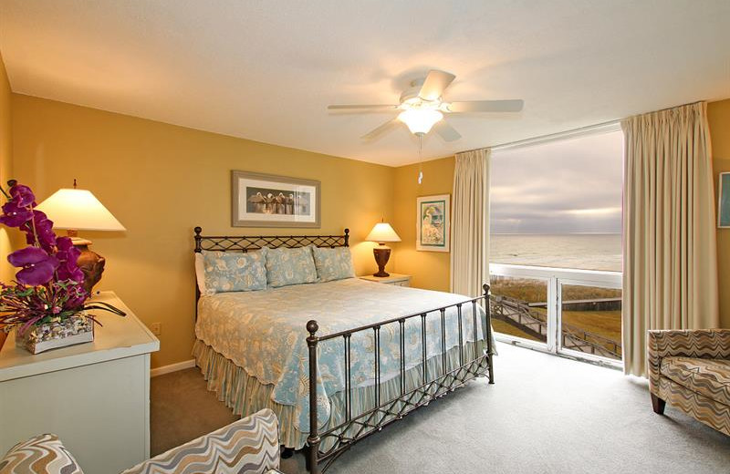 Rental bedroom at Shoreline Towers.