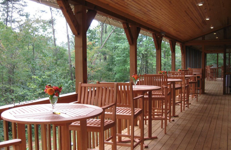 Event porch at Sautee Resorts.