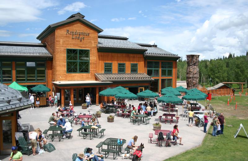 Patio at Grand Targhee Resort.