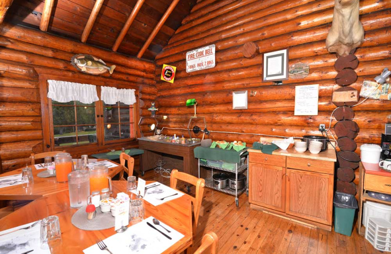 Breakfast at Manotak Lodge.