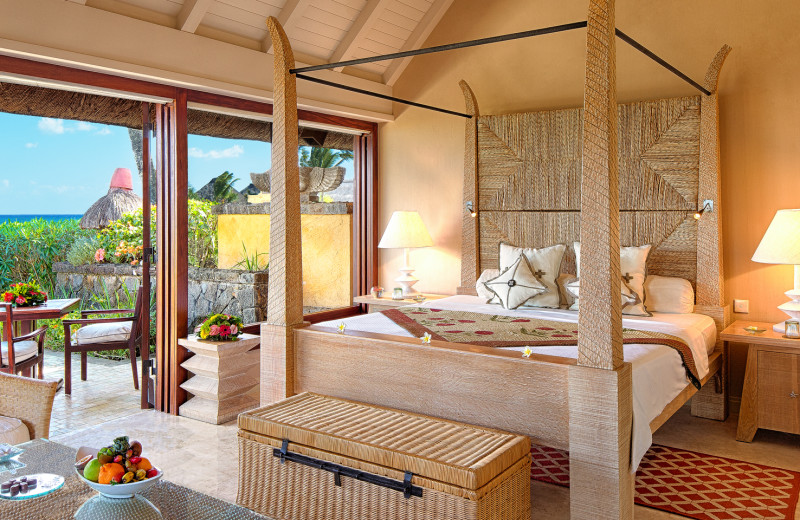 Guest room at The Oberoi Mauritius.