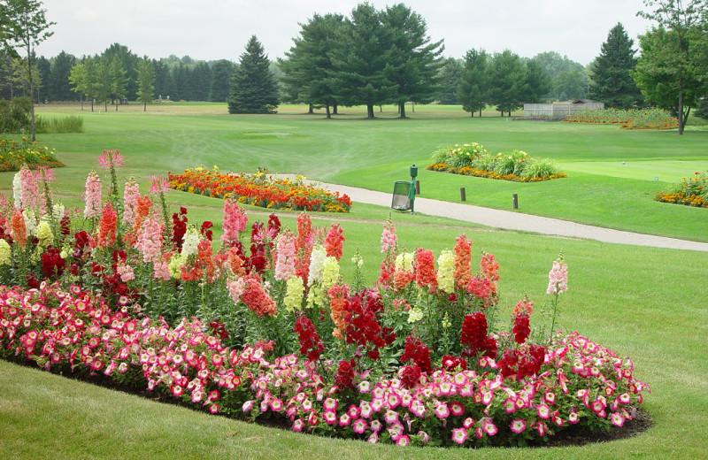 Golf course gardens at Lakewood Shores Resort.
