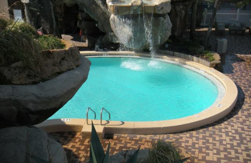 Outdoor pool at Paradise Palms Inn.