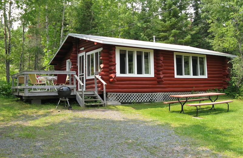 Cabin exterior at Herseth's Tomahawk Resort.