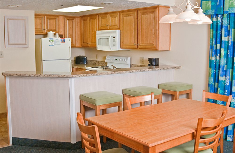 Guest kitchen at Long Bay Resort.