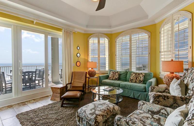 Rental living room at Beach Vacation Rentals.