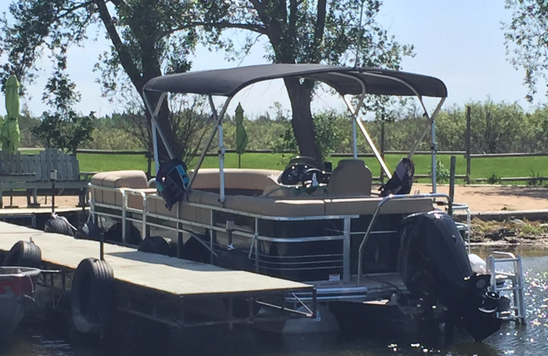 Pontoon at Blackduck Lodge & Resort.