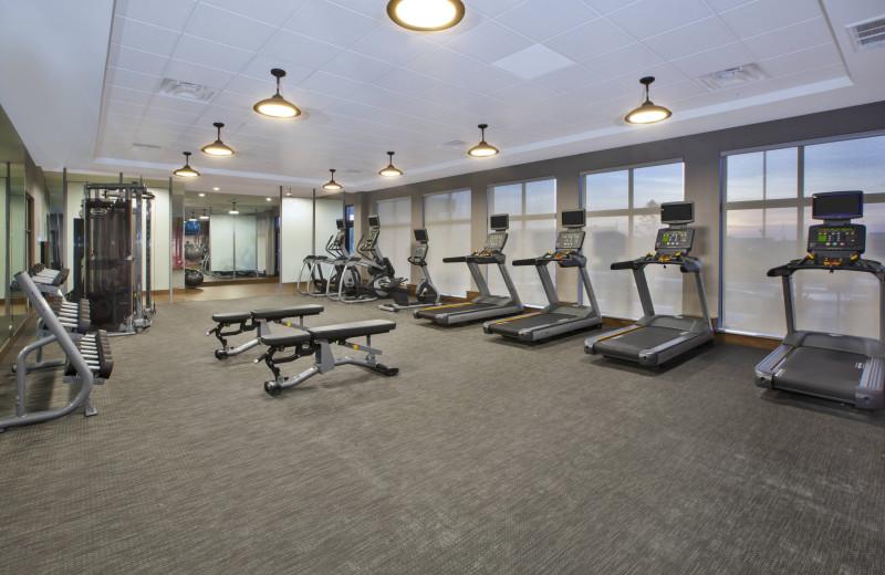 Fitness room at Courtyard by Marriott St. Joseph-Benton Harbor.