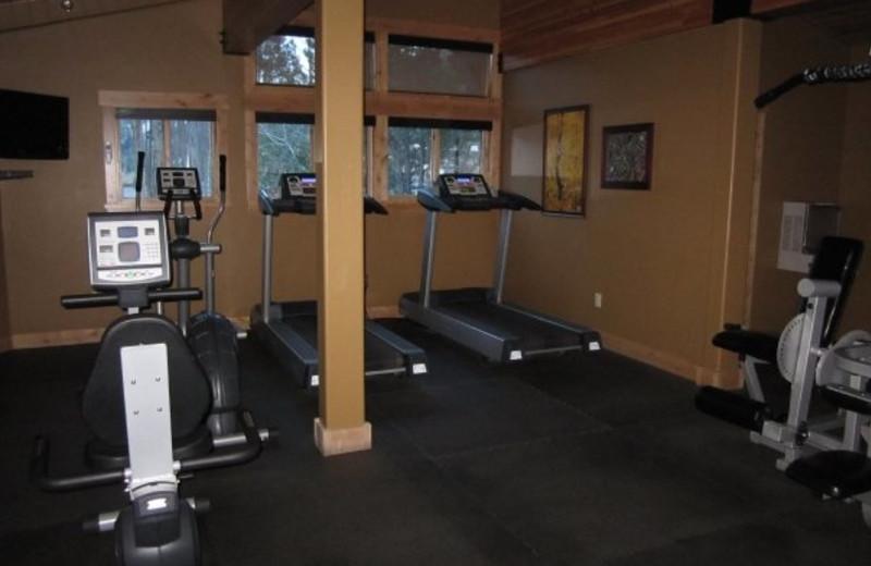 Fitness room at Olympic Village Inn.