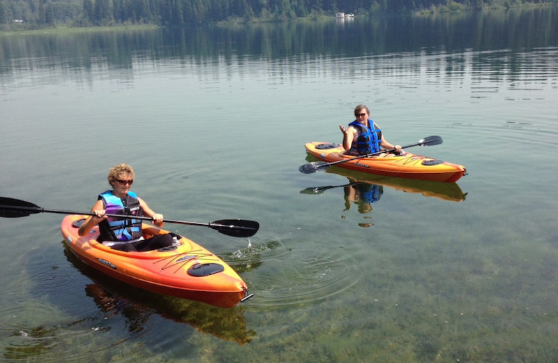 Kayaking at Tyee Lake Lodge.