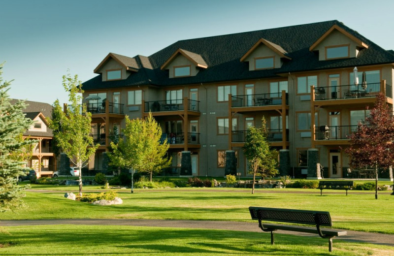 Park view at Bighorn Meadows Resort.