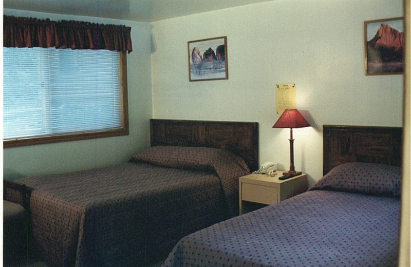 Guest room at Whitetail Court Motel.