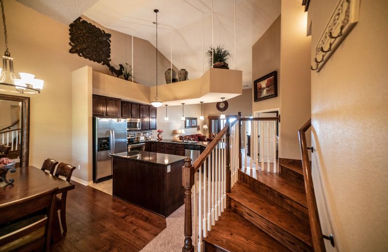 Condo kitchen at Thousand Hills Vacations.