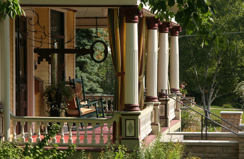 Front porch at Rivertown Inn Bed & Breakfast.