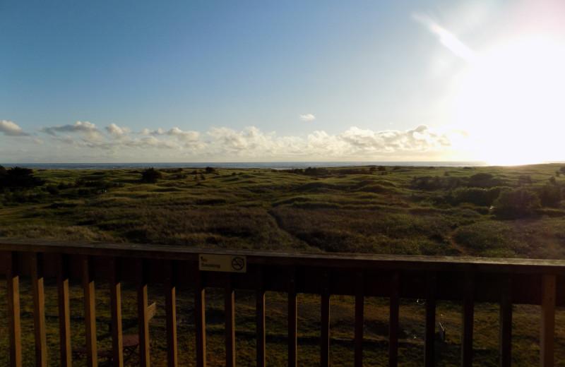 Balcony view at Chautauqua Lodge.