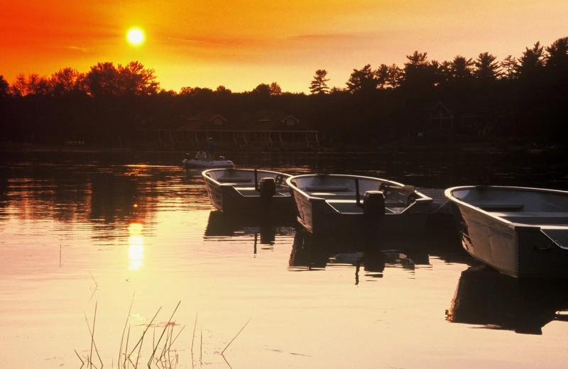 Sunset at Bayview Wildwood Resort.