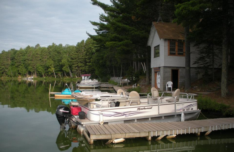 Docks at Idle Hours Resort.