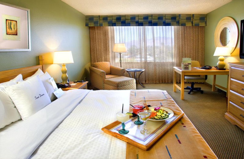Guest room at Doubletree Hotel Tucson at Reid Park.
