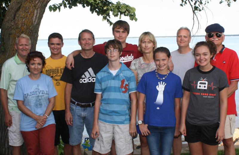 Family reunion at Barky's Resort.