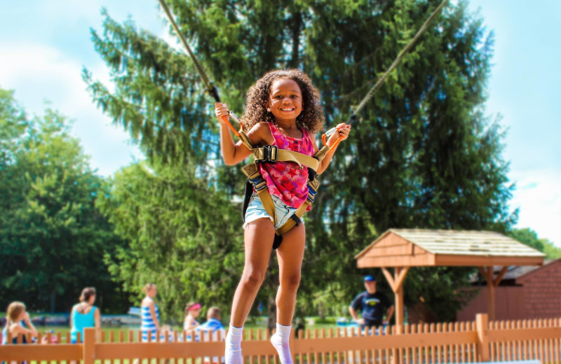 Bungee jumping at Rocking Horse Ranch Resort.