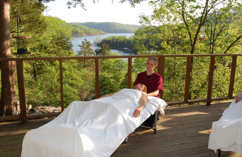 Spa services at Beaver Lakefront Cabins.