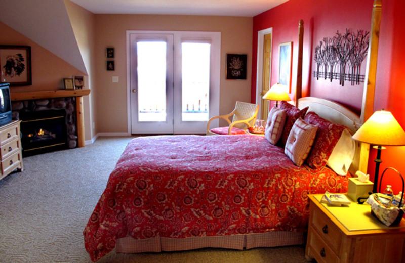 Guest room at Blue Heron Inn.