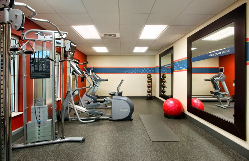 Fitness center at Hampton Inn & Suites Outer Banks/Corolla.