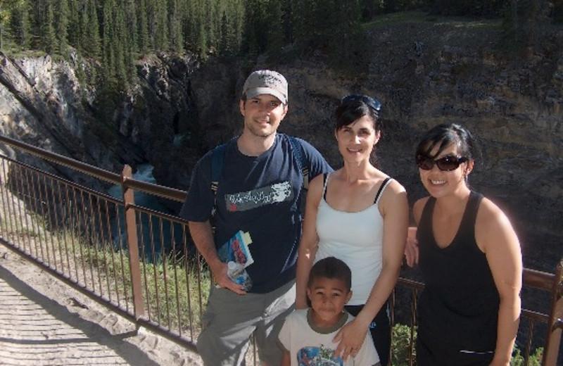 Family at Cheechako Cabins.