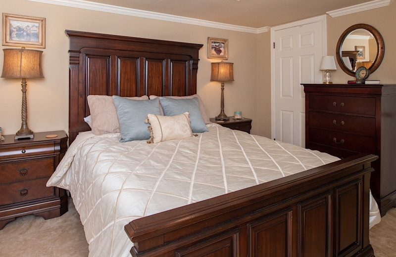 Rental bedroom at Coastal Properties.