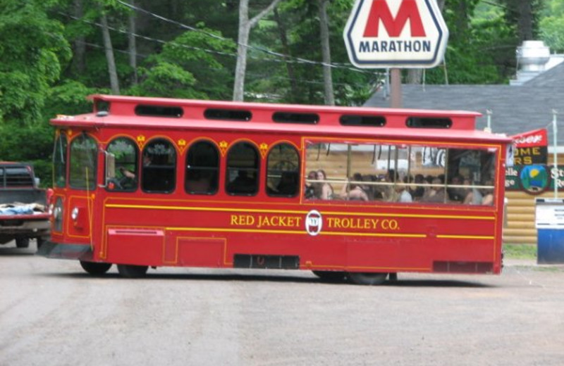 The trolly at Lac La Belle Lodge.