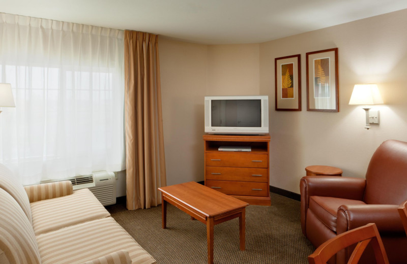 Guest room at Candlewood Suites - Stevensville.