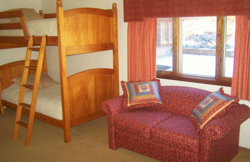 Bunk beds at Basswood Country Resort.