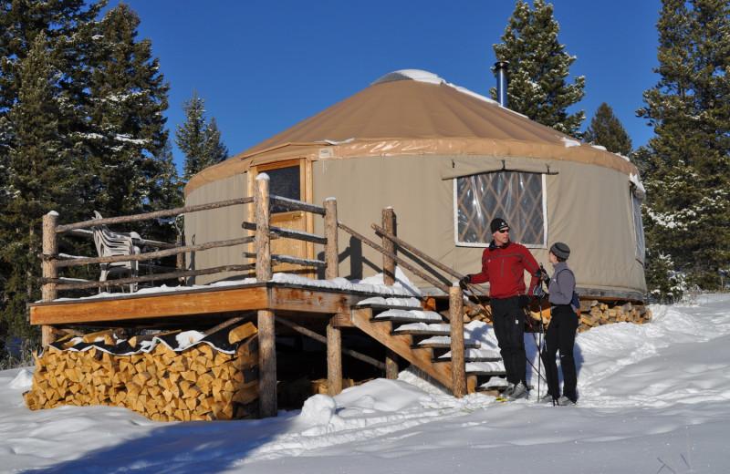 Yurt at Homestake Lodge.