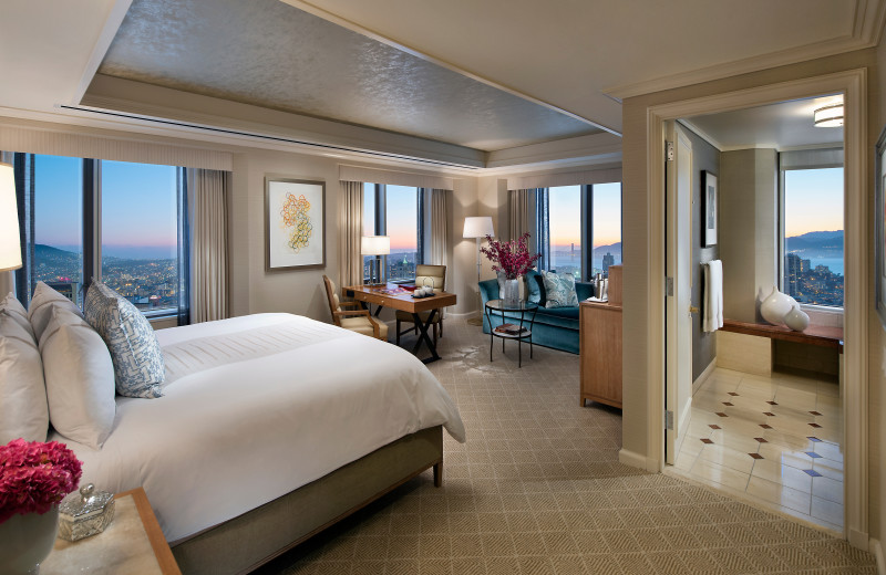 Guest room at Mandarin Oriental.