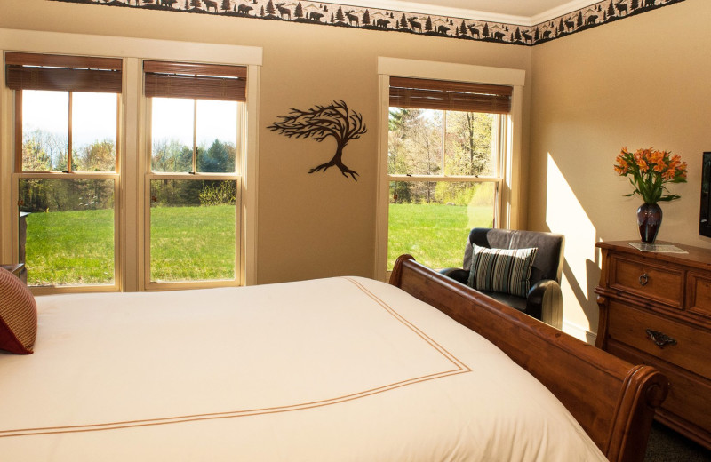 Guest bedroom at Stowe Meadows.