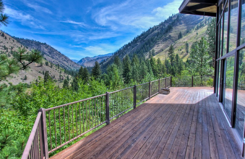 Deck view at Salmon River Tours.