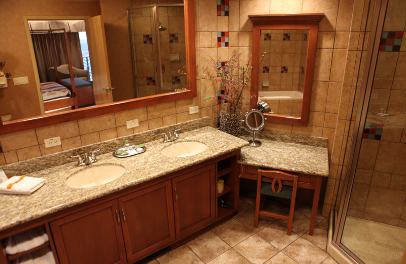 Guest bathroom at Sky Ute Casino Resort.