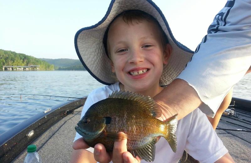 Fishing at White River Lodge.