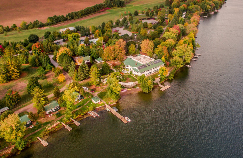Aerial view of Elmhirst's Resort.