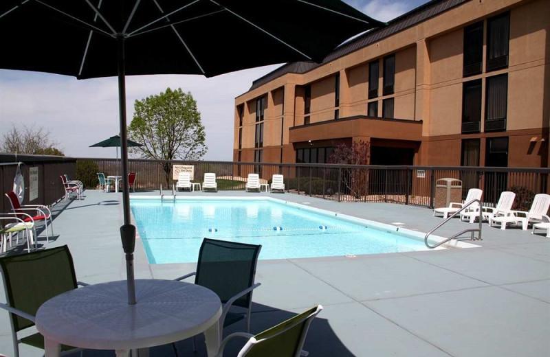 Outdoor pool at Hampton Inn Rolla.