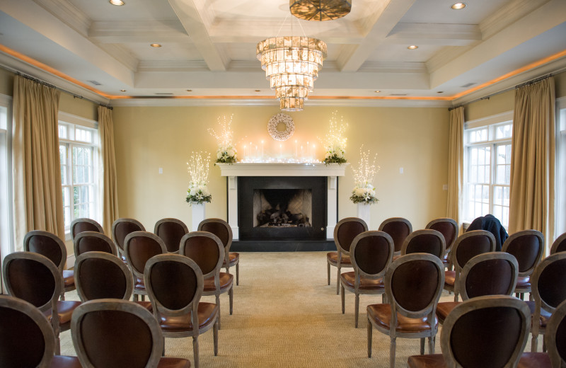 Wedding ceremony at The Inn at Willow Grove.