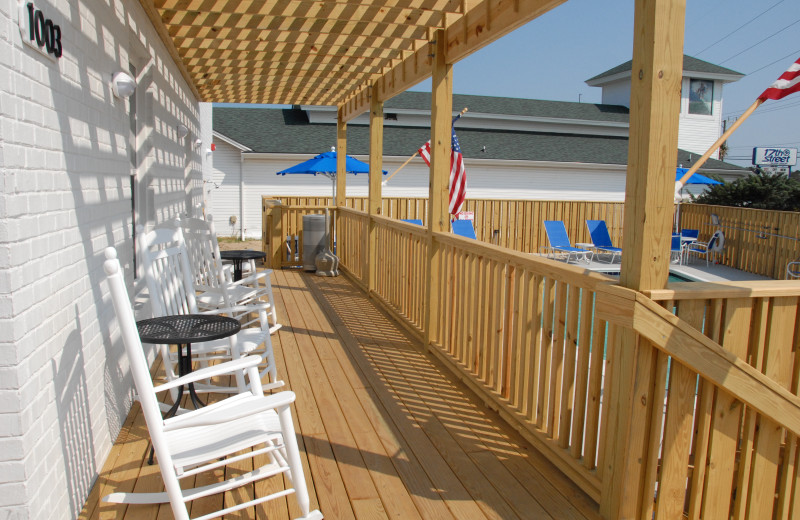 Porch view at Outer Banks Inn.
