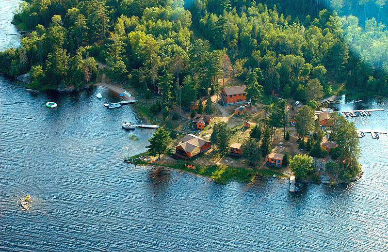 Aerial view of Pine Point Lodge.