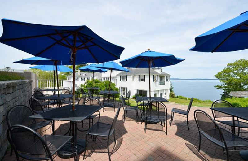 Breakfast on the veranda at Atlantic Oceanside Hotel.