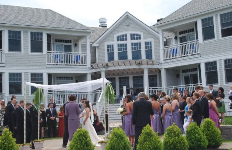 Wedding ceremony at Beachmere Inn.