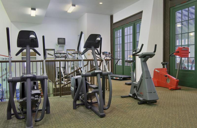 Fitness room at Fairmont Le Chateau Montebello.
