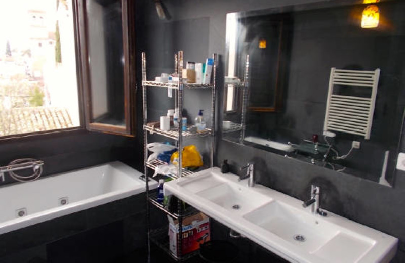 Rental bathroom at Alhambra Vistas Vacation Rentals.
