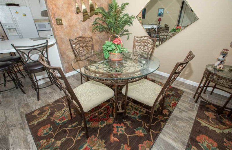 Dining area at Holiday Isle Properties - Dolphin Point 103B.
